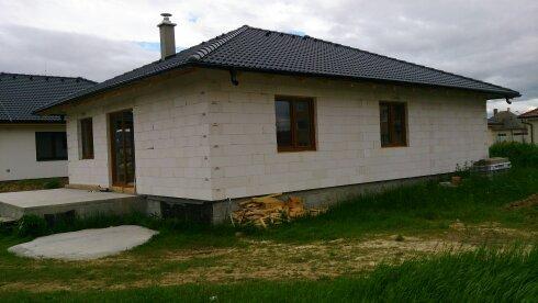 Plastové okná -Novostavba rodin. domu Částkovce